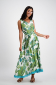 Esme dress palm print $159