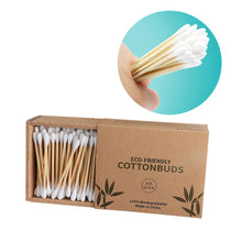 Load image into Gallery viewer, Biodegradable Bamboo Cotton Swabs