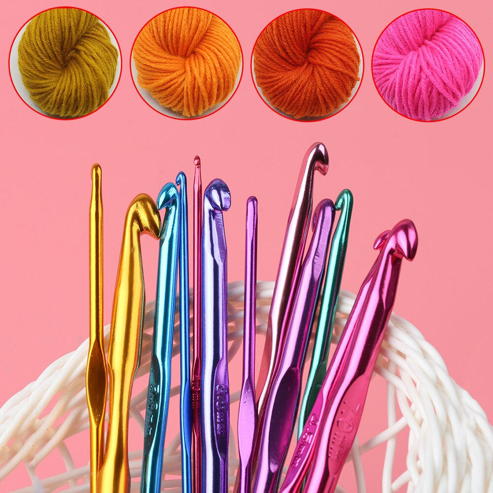 12 Pcs/set Multicolor Aluminium 2mm 10mm Crochet