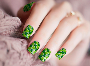 River Green Nail Wraps