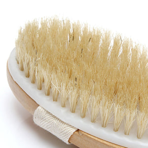 1Pc Shower Brush Boar Bristles Soft Bath Brush