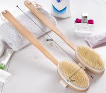 Load image into Gallery viewer, 1Pc Shower Brush Boar Bristles Soft Bath Brush