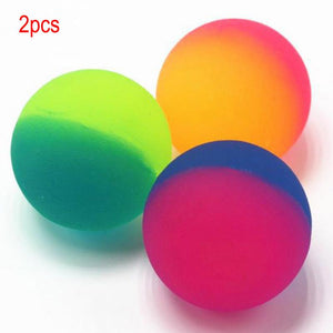2Pcs Double Color Luminous Bouncing Ball Glow