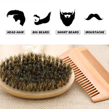 Load image into Gallery viewer, Wooden Beard Brush Kit