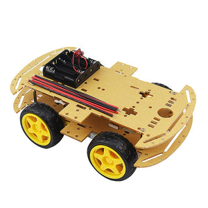 4 Wheeled Robot  Car Chassis Kit Speed Encoder for