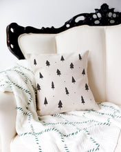 Load image into Gallery viewer, Christmas Trees Cotton Canvas Holiday Pillow Cover