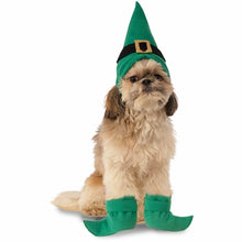 Load image into Gallery viewer, Elf Kit with Boot Cuffs Pet Christmas Costume