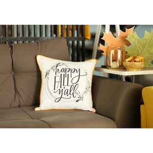 "Fall Season Thanksgiving Quote Square 18"" Throw Pillow Cover"