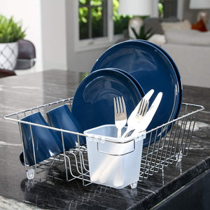 Dish Drainer with Cutlery Cup