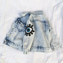Load image into Gallery viewer, Baby Girls Denim Jackets For Boys Jackets And Coats Children Jacket Spring Autumn Eyes Embroidery Jeans Coat Children Outerwear