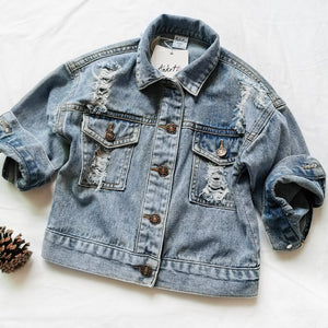 Baby Girls Denim Jackets For Boys Jackets And Coats Children Jacket Spring Autumn Eyes Embroidery Jeans Coat Children Outerwear