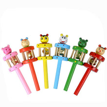 Load image into Gallery viewer, Baby Toy Baby Rattles Cartoon Animal Wooden