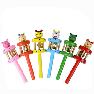 Baby Toy Baby Rattles Cartoon Animal Wooden