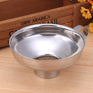 Canning Funnel Stainless Steel Wide Mouth Canning Funnel Hopper Filter