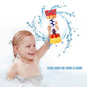 Children's bath toys water tank water cup rotation