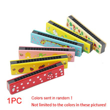 Load image into Gallery viewer, Creative Mini Chilren Beginner Wooden Harmonica