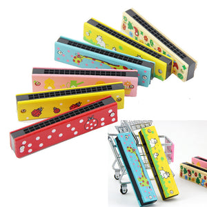 Creative Mini Chilren Beginner Wooden Harmonica