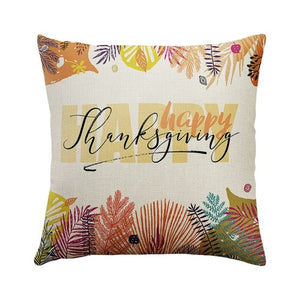 DIDIHOU Happy Fall Thanksgiving Day Cushion Cover
