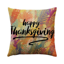 Load image into Gallery viewer, DIDIHOU Happy Fall Thanksgiving Day Cushion Cover