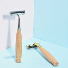 Load image into Gallery viewer, Stainless Steel Wooden Razor