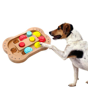 Dogs Puzzle Toys Bones Paw Wooden Dog Toy Eco
