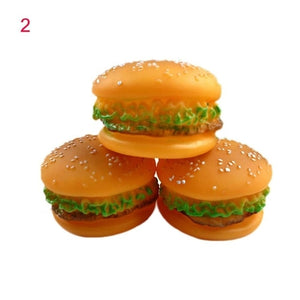 Hot Pet Puppy Chew Squeaker Rubber Sound Hamburger