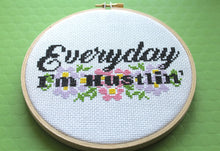 Load image into Gallery viewer, Everyday I'm Hustlin' Counted Cross Stitch DIY KIT