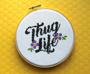 Thug Life Counted Cross Stitch DIY KIT