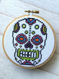 Sugar Skull Day of the Dead Skeleton Bright