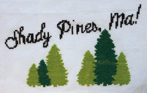 Golden Girls Shady Pines Cross Stitch DIY KIT