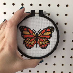 Butterfly Bug Counted Cross Stitch DIY KIT