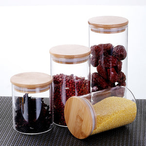 Mason candy Jar for Spices Glass Transparent Container Glass Jars with