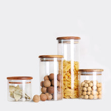Load image into Gallery viewer, Mason candy Jar for Spices Glass Transparent Container Glass Jars with
