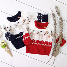 Load image into Gallery viewer, Newborn Christmas Sweater Knitted Baby Clothes Baby Boys Sweaters Deer