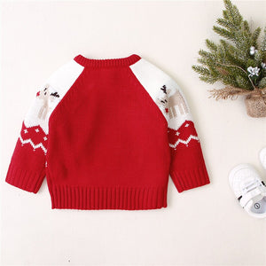 Newborn Christmas Sweater Knitted Baby Clothes Baby Boys Sweaters Deer