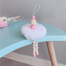 Load image into Gallery viewer, Nordic Style Ballet Dancer Hanging Decoration Wooden Beads Girl Room