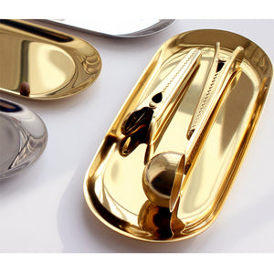 Golden Stainless steel Coffee Clip