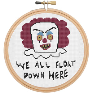 Pennywise It Clown Counted Cross Stitch DIY Kit