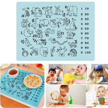 Load image into Gallery viewer, Puzzle Kids Table Mat Silicone Non Slip Waterproof