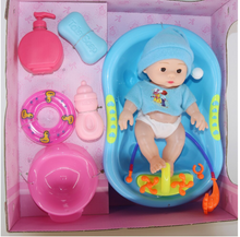 Load image into Gallery viewer, 32cm Full vinyl Body Reborn Baby Doll Toy For Girl boys talking feeding Newborn bebe reborn Bathe Toys for children gift