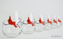 Load image into Gallery viewer, Cardinal Stemless Wine Glasses