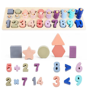 Teaching Aids Toddlers Counting Shape Math Blocks