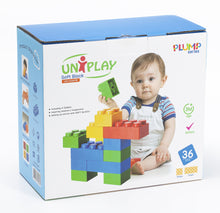 Load image into Gallery viewer, UNiPLAY Soft Building Blocks Plump Series 36pcs (#UN1036PR)