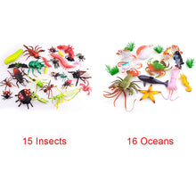 Load image into Gallery viewer, Undersea Animal Toy Set Portable Model Play Vivid