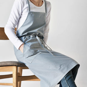 Karuilu Unisex Soft Cotton Linen Apron for Adults