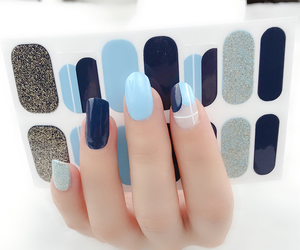 Blue Ting Gel Nail Wraps