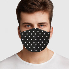 Load image into Gallery viewer, Black and White Polka Dot Face Cover