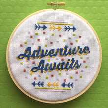 Load image into Gallery viewer, Adventure Awaits Counted Cross Stitch DIY KIT