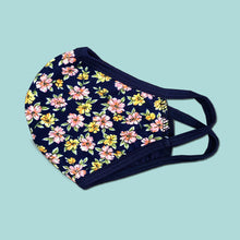 Load image into Gallery viewer, Washable reusable floral flower print face mask