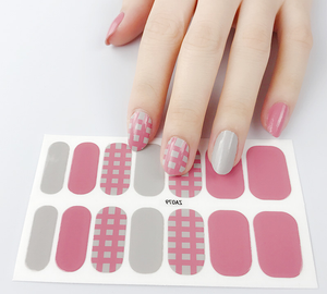 Honey Pink Gel Nail Wraps